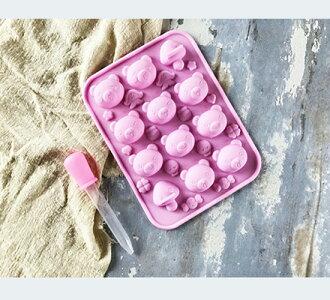 【Betty's焙蒂絲】小熊&菇菇軟糖果凍模/巧克力矽膠模/製冰模 SM103《烘焙器具(材)》