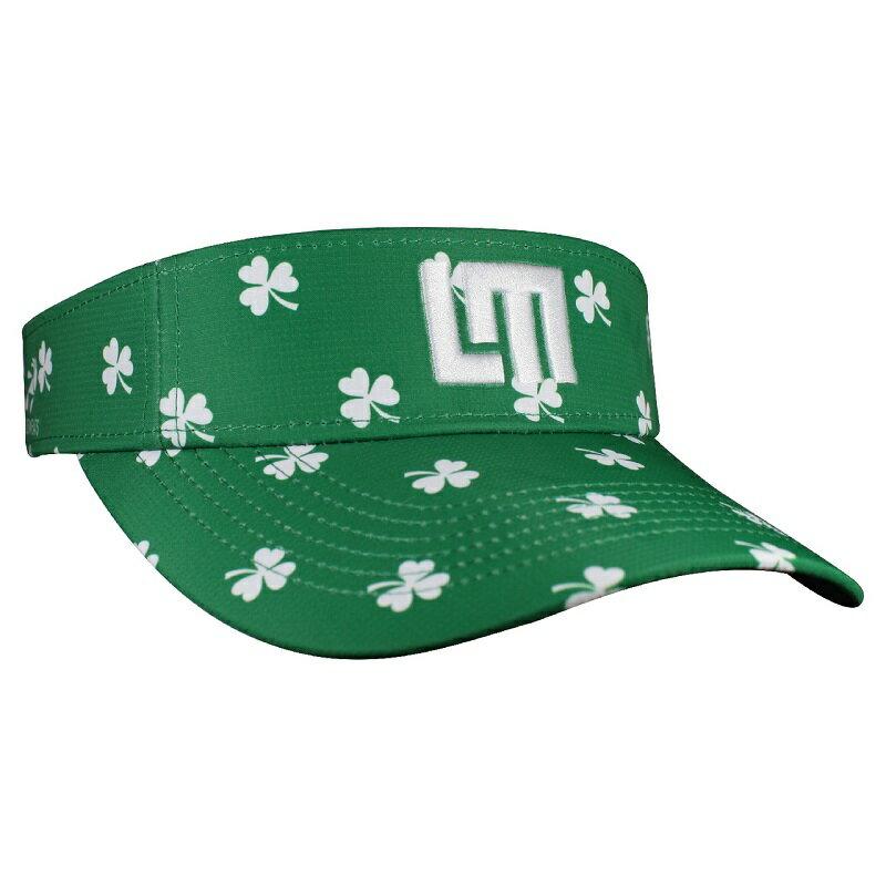 LOUDMOUTH 英國高爾夫服飾品牌-綠色三葉草中空帽