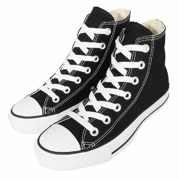 【CONVERSE】基本款 休閒鞋 黑色高筒帆布鞋 情侶鞋 (男女鞋)-M9160C