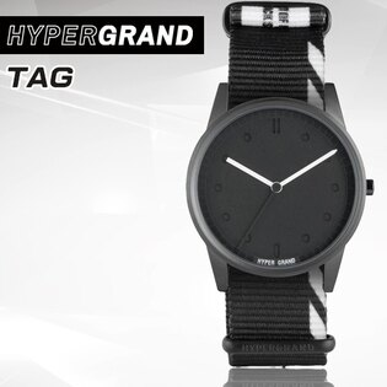 "Hypergrand新加坡設計師品牌01基本款系列""INHIBITION""TAG黑白碎片腕錶NW01TAG公司貨"