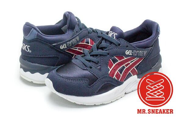 ☆Mr.Sneaker☆ASICSTigerGEL-LYTEV深藍紅Kids中童鞋C540N5026