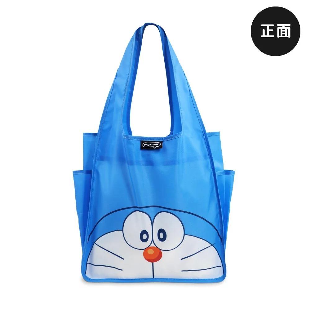 murmur 哆啦A夢 A4購物袋 超輕便 購物袋 扣子袋 環保袋 肩背袋 外出袋 超輕便摺疊收納袋