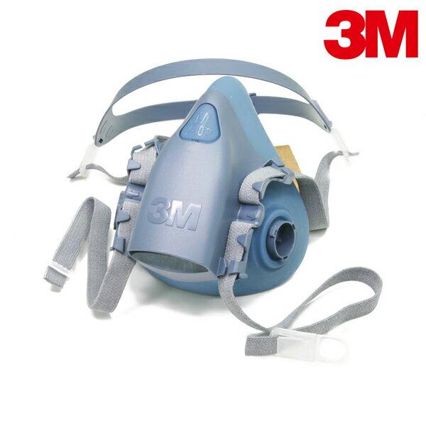 愛挖寶生活工坊 【愛挖寶】3M 7502 舒適矽膠雙罐式半面罩防毒面具 可搭6000系列濾罐