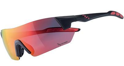 720armour Kamikaze 單車三鐵廣角運動太陽眼鏡 B369-1 亮澤黑框灰紅鍍膜防爆PC片
