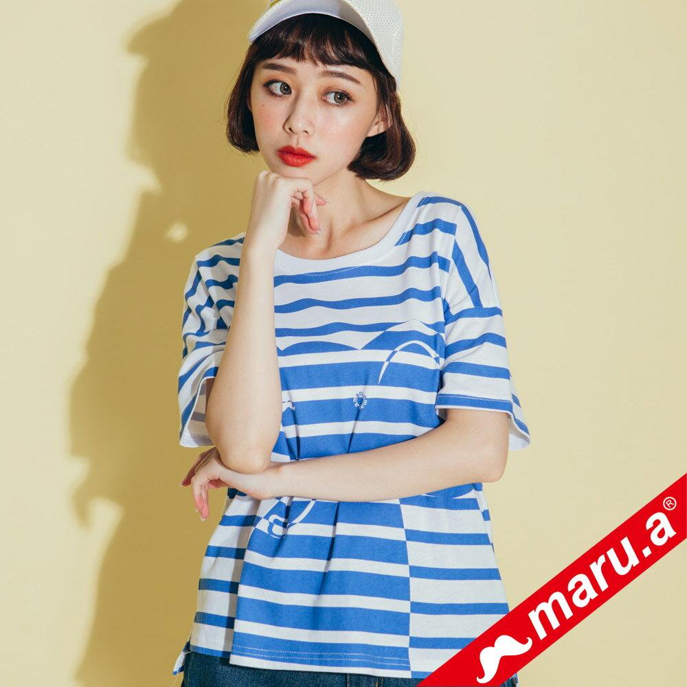 【maru.a】親子裝童趣感小飛象條紋T-Shirt(2色)8321228  /  8351221 5