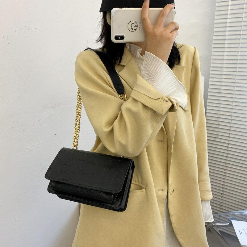 女士小包包女包2020新款潮時尚鏈條單肩包斜挎包網紅百搭小方包