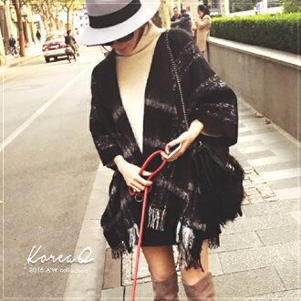 圍巾 圍巾‧質感格紋大披肩圍巾(預+現) Korea Q【15110124】
