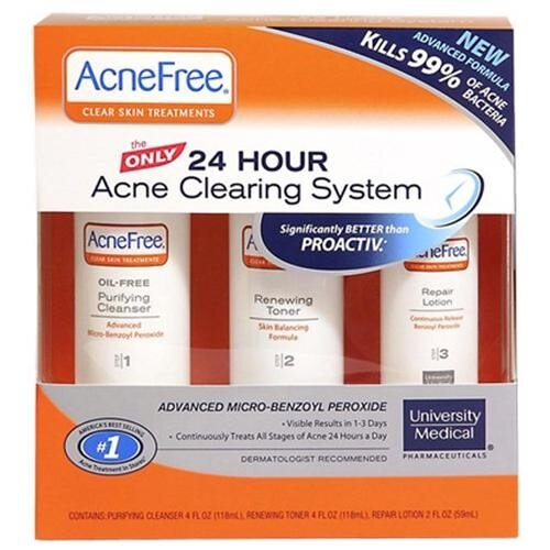 Acnefree 24 Hour Acne Clearing System Kit, 3 Count 0