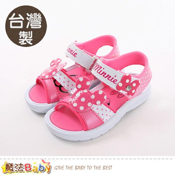女童鞋台灣製迪士尼米妮正版涼鞋魔法Baby~sk0463