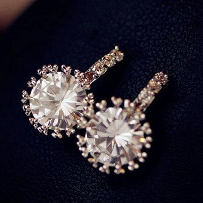 925純銀耳環 鑲鑽耳飾-精緻時尚高雅母親節生日情人節禮物女飾品73ag121【獨家進口】【米蘭精品】