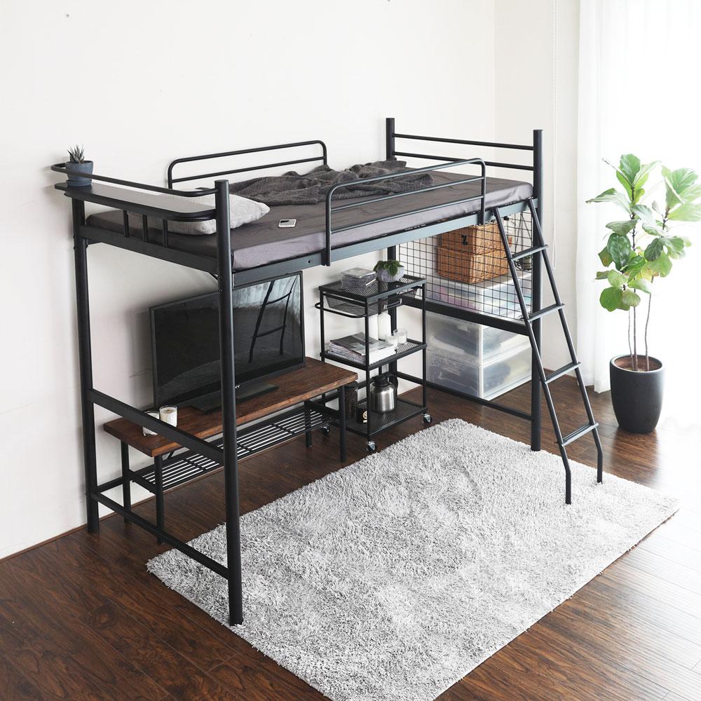 日式 推薦 伯奈爾系列工業風單人雙層鐵床架 / 高腳床(DIY自行組裝 / 不含薄墊)  /  H&D 1