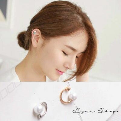 [滿700現折$100]    韓系飾品 簡約優雅珍珠U型耳骨夾(單邊) 2色【OE-0402】LYNNSHOP