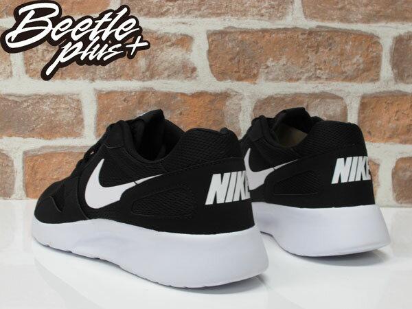男生 BEETLE NIKE KAISHI 輕量 網布 麂皮 拼接 黑白 白勾 慢跑鞋 654473-010 2