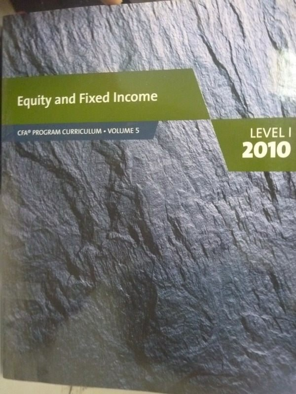 ~書寶 書T9/大學商學_XGI~Equity and Fixed Income_CFA