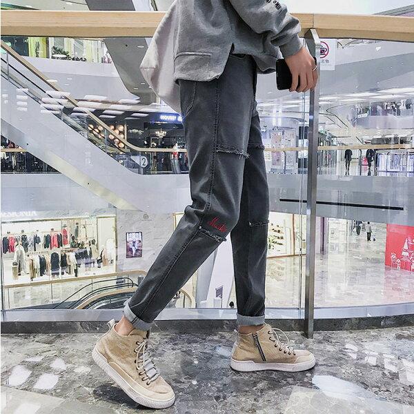 經典潮流特色造型百搭休閒牛仔褲