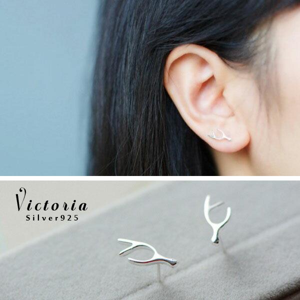 Victoria:S925銀OL必備新品,防過敏耳環-維多利亞160562