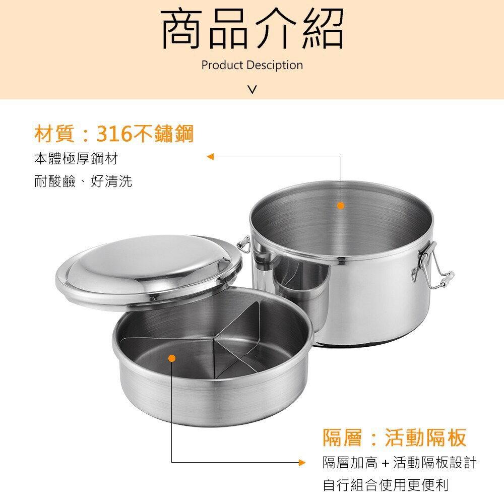Perfect理想 極緻316雙層圓形便當盒 12cm 14cm 16cm KH_50614 | PQ Shop
