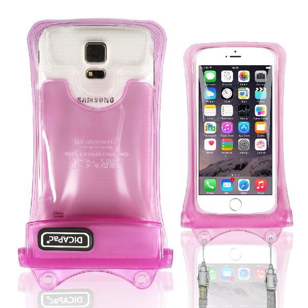 DiCAPac WP-C1(有現貨) 高耐磨手機防水袋(5.1吋以下)-粉紅色