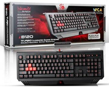 A4雙飛燕Bloody TUROB連環招防水背光鍵盤 B120