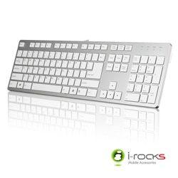 [富廉網] i-rocks艾芮克 IRK01 銀白色 巧克力超薄鏡面銀色鍵盤