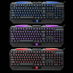 [富廉網] WINTEK 文鎧 F1遊戲防水發光電競鍵盤 LED三色背光 按鍵無衝突