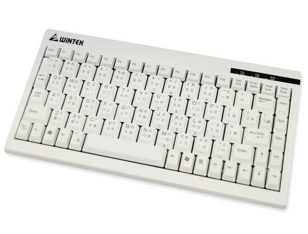 WiNTEK 文鎧 WK595 迷你鍵盤 PS2鍵盤 白色 88鍵 PS/2 [天天3C]