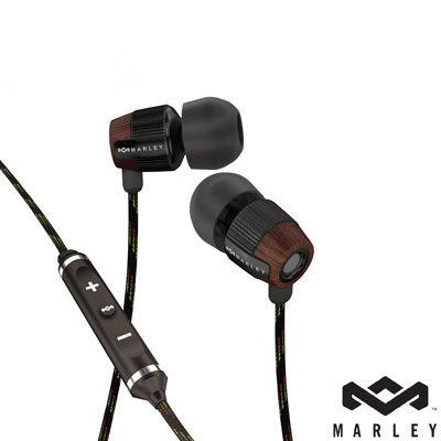 Marley 雷鬼 Redemption Song IE (EAR-MAR-FE003MI) Midnight (黑色) 入耳式耳機麥克風含音量控制