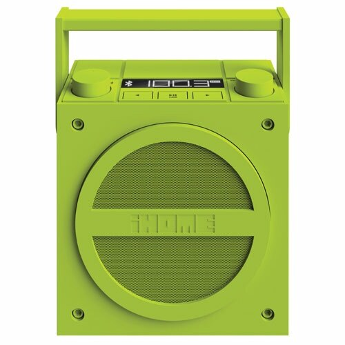 [天天3C] iHome iBT4 螢光綠 藍牙無線可充電內置揚聲器 復古 FM收音機 內建充電電池