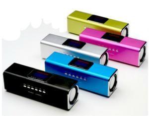[富廉網] 音樂天使 JH-MAUK5B 第四代繁體中文 插卡喇叭 隨身碟喇叭 MP3喇叭 液晶螢幕 歌詞顯示