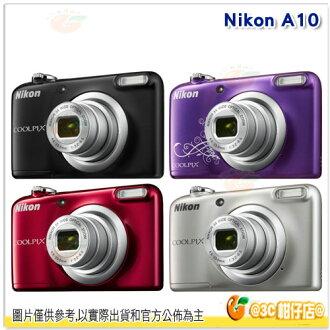 送32G+電池*2+原廠相機袋+自拍棒等好禮 Nikon COOLPIX A10 數位相機 國祥公司貨 1610 萬像素 3號電池 似L31 口袋機 名片機