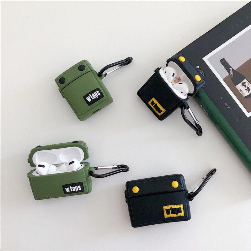 潮流包包款airpods1/2代通用  矽膠保護套 台灣現貨