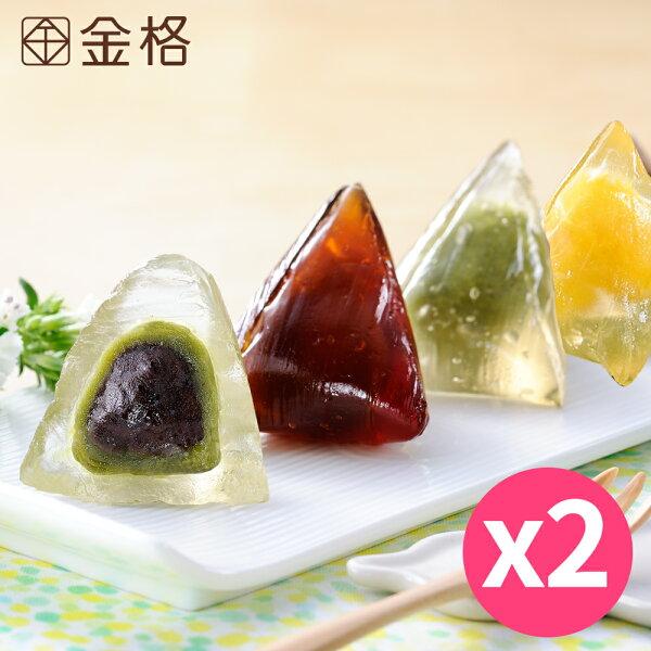 【金格端午】9入甜心冰粽(雙果布蕾+黑糖金薯+抹茶紅豆)兩入組