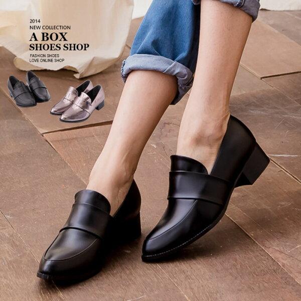 【AA615】MIT台灣製中性穿搭必備高質感皮革金屬粗低跟牛津紳士踝靴2色