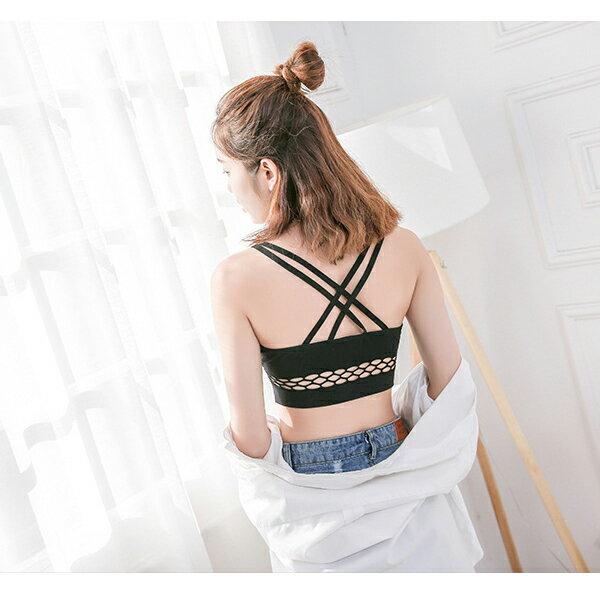 小可愛螺紋雙線條無縫運動吊帶小可愛內衣【LQDK440】BOBI0315