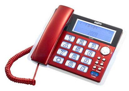 台灣哈理 三洋 SANYO 來電顯示有線電話 TEL-981 紅/銀 2色