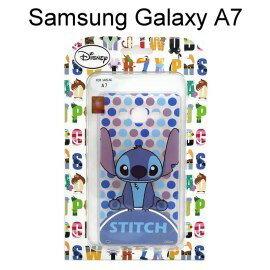 迪士尼透明軟殼 [新點點] 史迪奇 Samsung A700Y Galaxy A7【Disney正版授權】