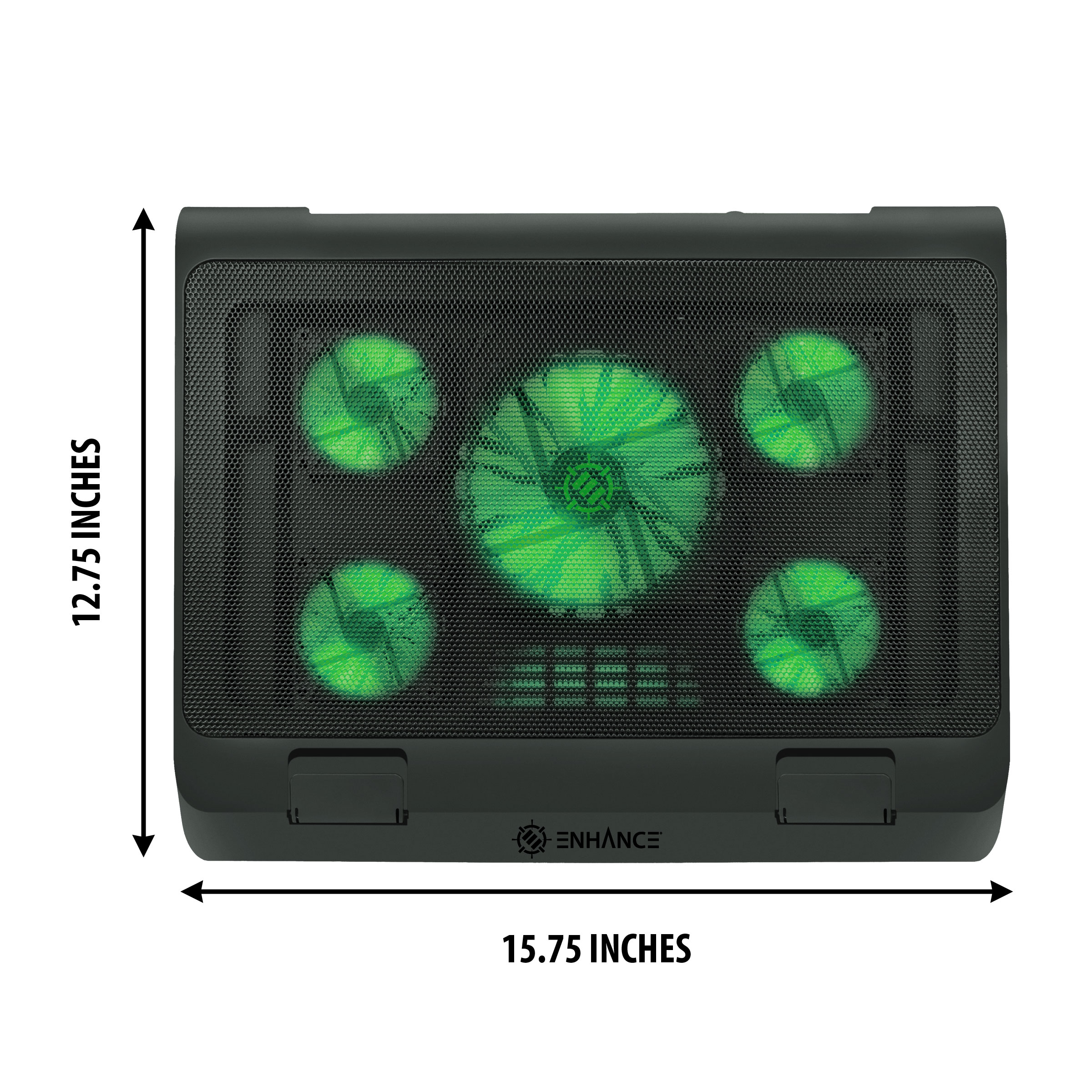 ENHANCE GX-C1 Laptop Cooling Stand (15.75? x 12.75?) with 5 LED Fans & Dual USB Ports 6