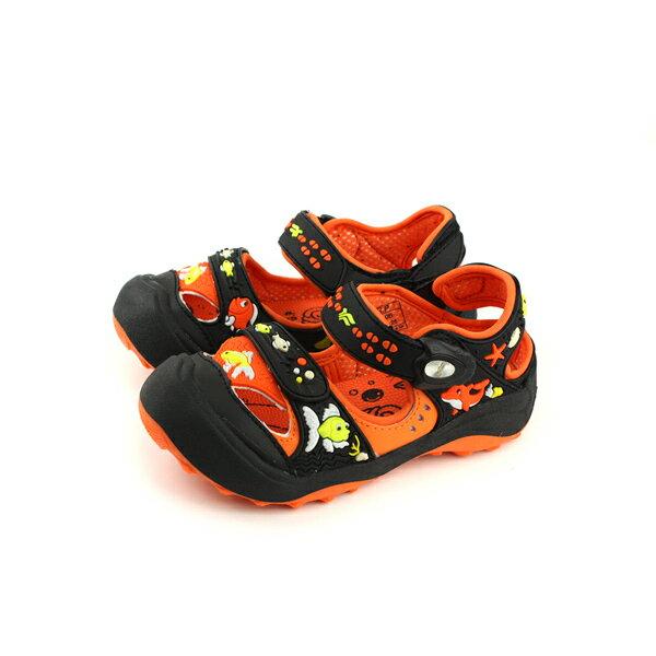 GP(Gold.Pigon)涼鞋防水雨天橘黑中童童鞋G7610B-42no929