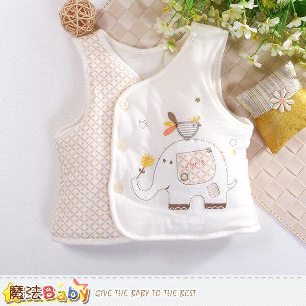 嬰幼兒背心外套 厚鋪棉絲絨保暖外套 魔法Baby~k60476