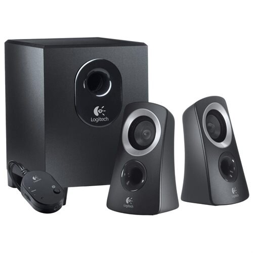 Logitech Z313 3 Piece 2.1 Channel Multimedia Speaker System - Black / Silver 1