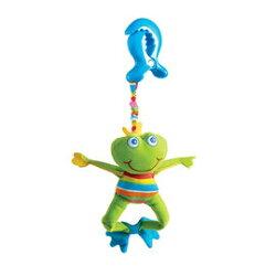 【同價位商品 第二件 66折】Tiny Love 夾偶-抖抖青蛙【隨身攜帶並可掛在嬰兒推車、提籃汽座及嬰兒床上】【紫貝殼】