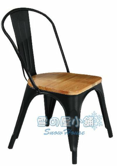 ╭☆雪之屋居家生活館☆╯006黑色鐵皮餐椅(松木座板)BB383-14#4202B