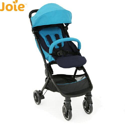 英國【Joie】pact lite dlx 輕便登機 口袋嬰兒手推車-(藍/紅)