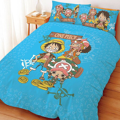【享夢城堡】單人三件式床包涼被組-航海王 尋寶之路系列