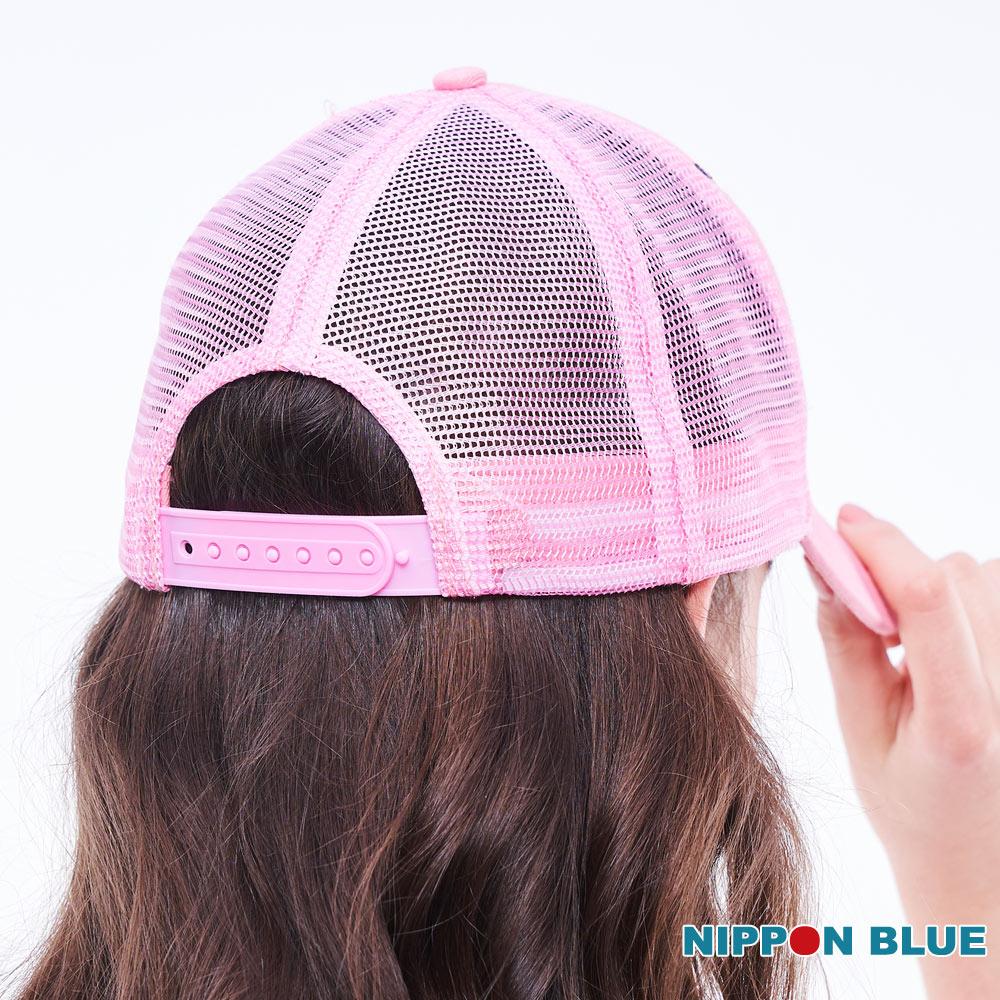 BLUE WAY  日本藍  精繡五彩相思鳥網帽(粉) 2