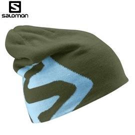 [ Salomon ] Flat Spin II Beanie 帽 墨綠 / 雙面帽 / 編織帽 / 公司貨 353009