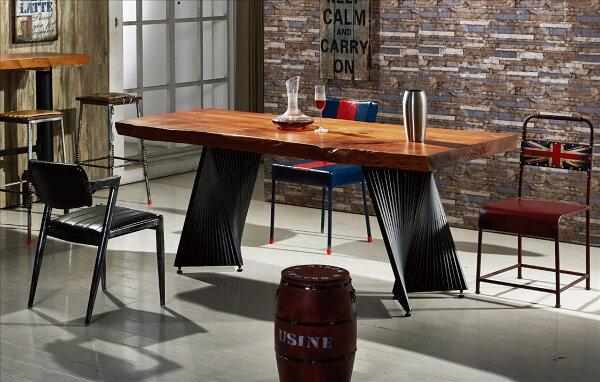 【石川家居】JF-462-1強森6.6尺實木餐桌(不含餐椅和其他商品)台北到高雄搭配車趟免運