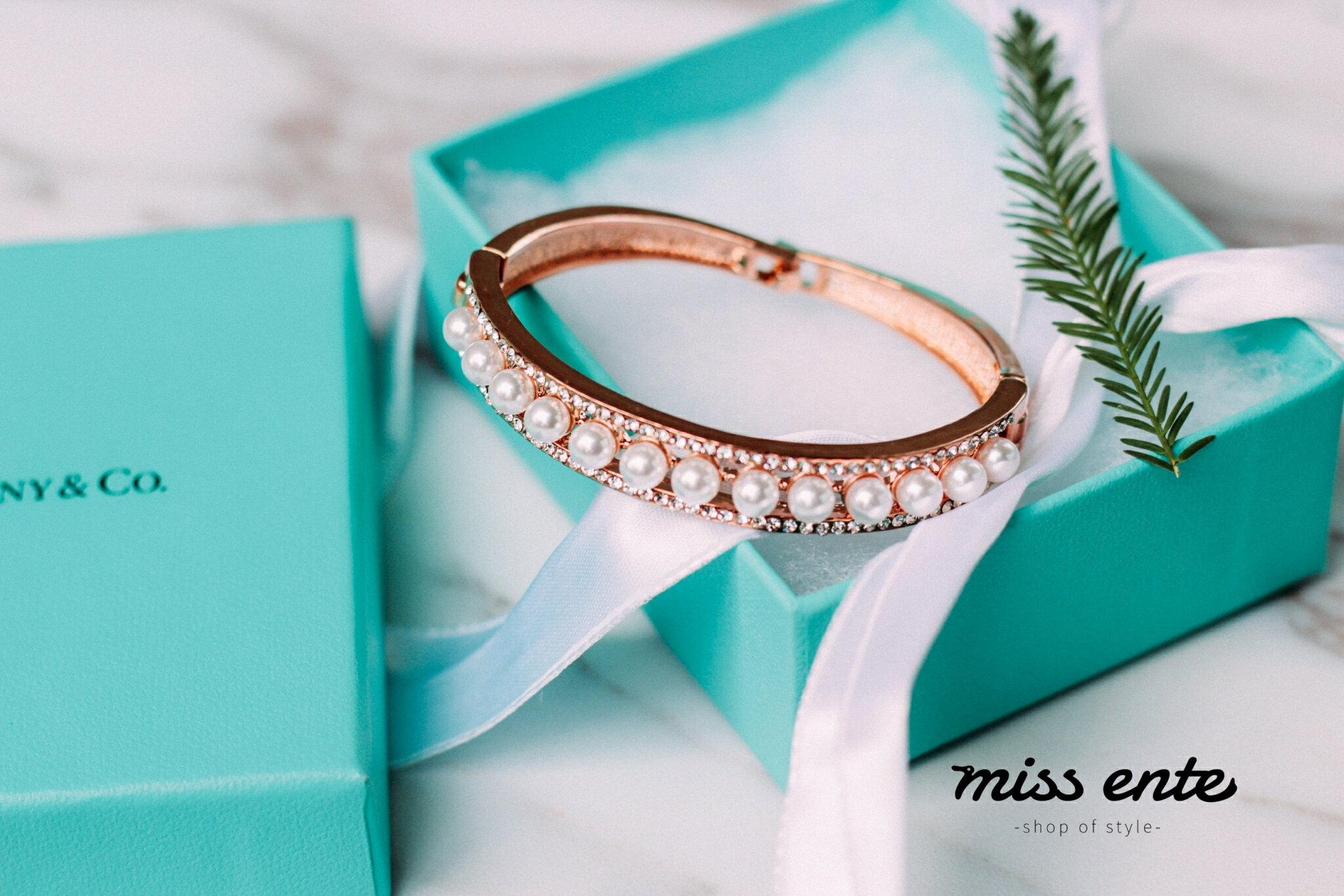 奢華名媛氣質珍珠手環