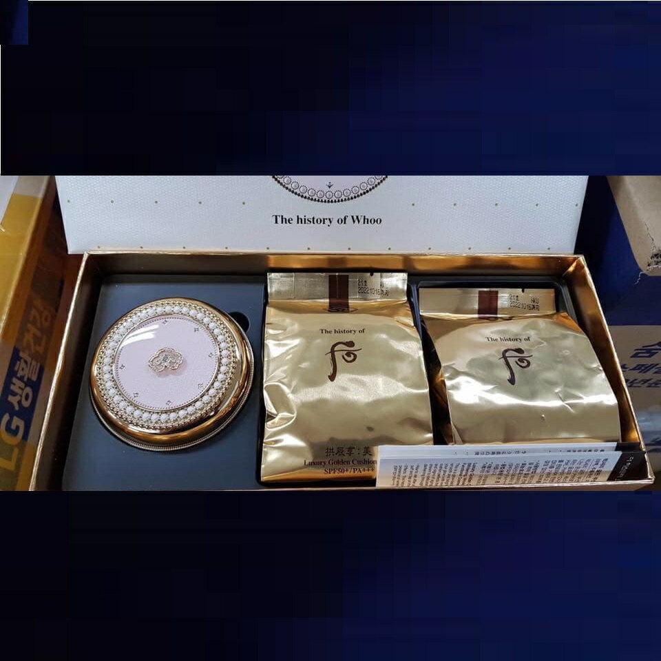 【Ipretty精品美妝】Whoo 后拱辰享美奢華黃金氣墊套盒 底妝 彩妝 氣墊粉餅