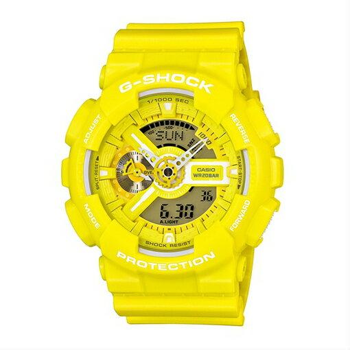 CASIO G-SHOCK GA-110BC-9ADR耀眼黃流行腕錶/51mm